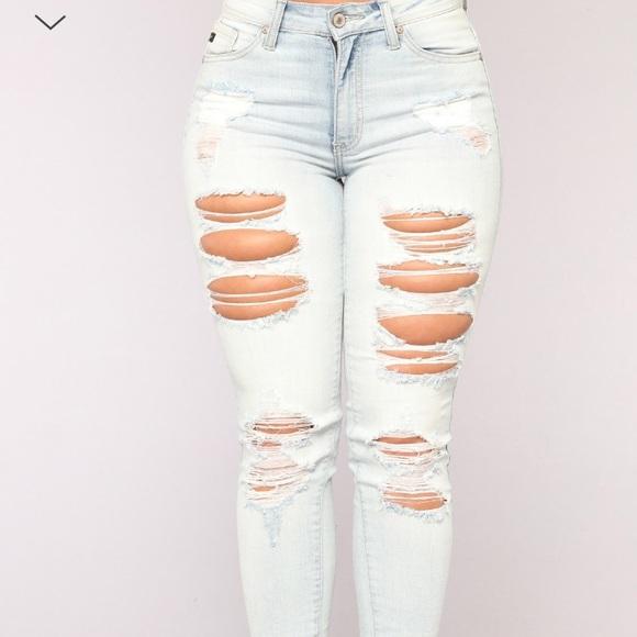 24b0674e00b Fashion Nova Jeans | Light Wash Distressed Skinny Jean | Poshmark